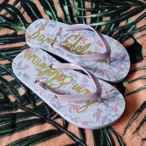SAM EDELMAN Girls Flip Flops Size 8